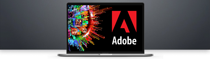 Adobe op laptop